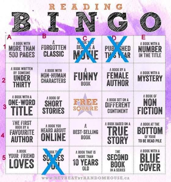 reading bingo published this year